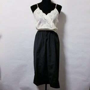 Vintage 70's 80's disco black white party dress